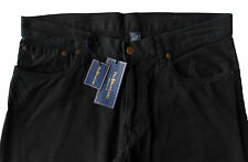 Men's POLO RALPH LAUREN Vintage Black Jean-Style Pants 30x32 NWT Straight Fit