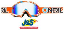 Oneal B-10 Motocross Goggles MX Off-Road Stream BMX MotoX Orange Blue Clear Lens