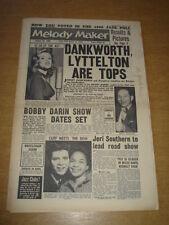 MELODY MAKER 1960 JANUARY 23 JOHNNY DANKWORTH BOBBY DARIN CLIFF RICHARD JAZZ +