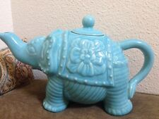 Target Calypso St Barth Blue Elephant Teapot Free Priority Shipping!