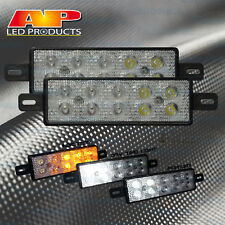 2X LED FRONT INDICATOR PARK & DRL CLEAR AMBER LIGHT LAMP ARB TJM BULLBAR 12V 24V
