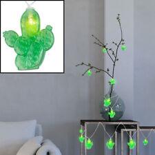 LED CACTUS Lumières Chaîne fête déco éclairage vert Batterie Guirlande 185 cm