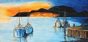 """""""End Of The Day"""" Original Painting- De Martino Art"""