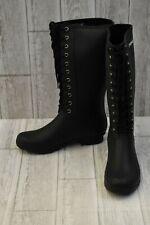 +Roma Opinca Lace Up Rain Boots - Women's Size 10, Matte Black