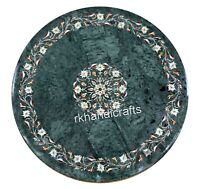 30 Inches Marble Kitchen Table Top Handmade Peitra Dura Art Patio Dining Table