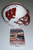 WISCONSIN Joe Thomas signed mini helmet JSA COA AUTO Autographed BADGERS