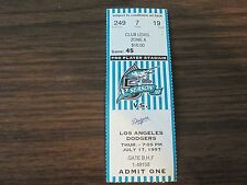 Florida Marlins Ticket Stub From July 17 1997 vs Los Angeles Dodgers 7/17/97