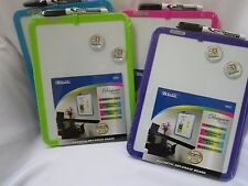 Magnetic Dry Erase Board  marker + two magnets Purple Green Pink or Blue dorm