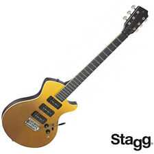 Stagg SILVERAY SERIES Nash Deluxe Model Flamed Maple Top Electric Guitar - Gold