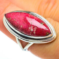 Thulite 925 Sterling Silver Ring Size 7.25 Ana Co Jewelry R44004F