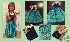 NEW FROZEN FEVER INSPIRED PRINCESS ANNA BIRTHDAY PARTY DRESS  Size 8/9 (XL) Elsa