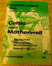 Teams L-N Final Football Scottish Fixture Programmes (1970s)