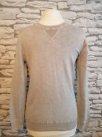 """Superdry Mens premium dyed Crew Neck Knit Jumper grey S 36"""" chest"""