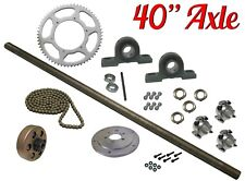 "Drift Trike Kit Set with Clutch #40 Chain 40"" Axle Length Pillow Block Bearings"