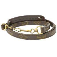 Louis Vuitton Monogram Bag Strap Shoulder Crossbody 110 cm 43.30 inch Brown Gold