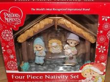 PRECIOUS MOMENTS FOUR PIECE NATIVITY SET NEW! 2017