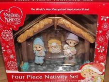 PRECIOUS MOMENTS FOUR PIECE CHRISTMAS NATIVITY SET NEW! 2017