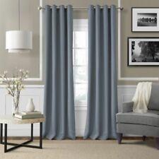 "Elrene Essex Curtain Window Panel Blue Linen  95"" L"