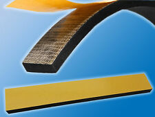 5x Moosgummi Streifen   Einseitig selbstkleb.  400x30x10mm   Schwarz   Kautschuk