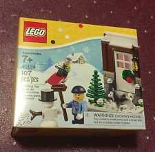 Lego New 40124 Winter Fun / Christmas Seasonal Holiday Retired Set
