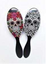 The Wet Brush Pro Detangle Hair Brush Sugar Skull Duo- Red & White Rose
