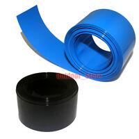 New 1M Flat Width 250MM, Φ158MM PVC Heat Shrink Tubing Wrap (Black/Blue)