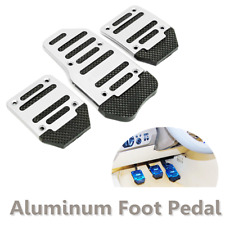 3x Non-slip Car Manual Accelerator Brake Clutch Foot Pedal Treadle Cover Silver