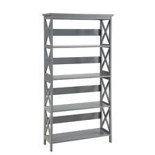 Convenience Concepts Oxford 5 Tier Bookcase, Gray - 203050GY