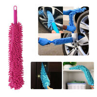Microfibre Noodle 2 In 1 Long Flexible Wash Alloy Wheel Brush Car Cleaner Rose