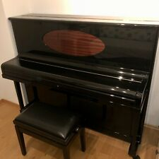 Sehr schönes Blüthner Klavier mit höhenverstellbarer Klavierbank schwarz, 124