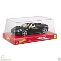 FERRARI 458 SPIDER MATT BLACK 1:24 HOT WHEELS MATTEL