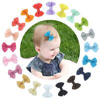 KE_ BL_ 1Pc Fancy Baby Girls Mini Bow Handmade Hair Clip Hairpin Barrette  Dyn