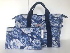 Authentic Cath Kidston Medium Foldaway Shopper Overnight Travel Bag PeonyBlossom