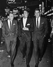 1960 THE RAT PACK Frank Sinatra Dean Martin Ocean's Eleven 11 Glossy 8x10 Photo