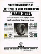 PUBLICITE ADVERTISING 094  1994   MICHELIN  4X4  pneus