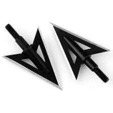6 x Metal 2 Fixed Sharp Broadheads Blade 100 Grain Hunting Archery Arrow Heads