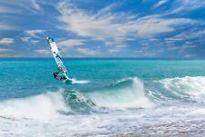 Windsurfer Riding Wave Poster A3 42x29cm Blpa3P43 Surf Sail Board Photo Print