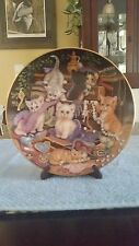 Bradford  Exchange Amewsing Adventures Frolic Plate 1st In series cats