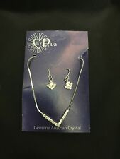 crystal diamonte necklace and earring set gift Christmas party wedding