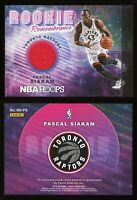 2018-19 Panini NBA Hoops Pascal Siakam RC GU Jersey Rookie Remembrance #RR-PS