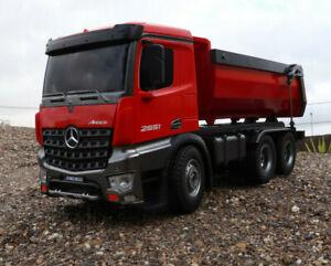 RC Muldenkipper Kipplader LKW Mercedes AROCS 2,4GHz RTR - 10 Kanal Amewi 22407