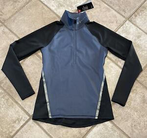 Under Armour Fitted 1/4 zip Cold Gear Running Shirt Size Medium