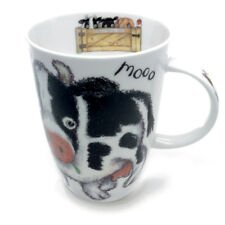 Roy Kirkham Please Shut The Gate Cow Mug Bone China 400ml Cute Fun Country Farm