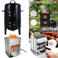 Fold Portable Barbecue BBQ Grill Stove Compact Charcoal Outdoor Camping Cooker