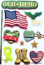 Recuerdos En 3d Stickers-Us Army Heroes American Soldier Soldados-nuestro héroe