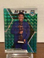 2019-20 Panini Mosaic MVPs Green Mosaic Prizm #297 Giannis Antetokounmpo