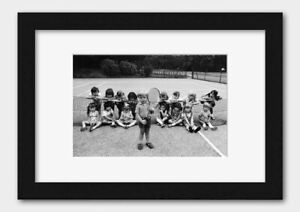 Children at a Tennis Court in Ilford London England 1973 Print