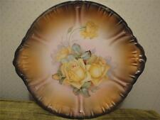 Beautiful Franz Anton Mehlem Royal Bonn Yellow Roses Painted Plate Antique