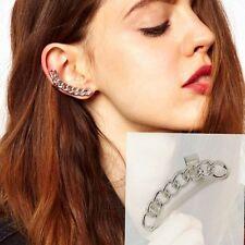 Woman Jewellery Fashion Punk Metal Chain Shape Ear Cuff Clip Right Ear Stud 1PC