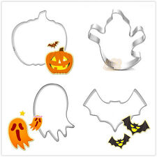 4 Pcs Packed Halloween Items Stainless Steel Cookie Dessert Cake Cutter Moulds